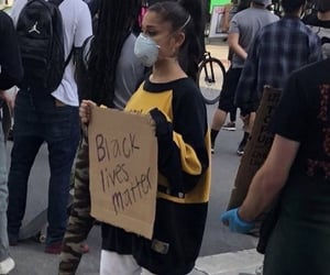 ariana grande, black lives matter, and blm image