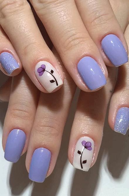 20 Pretty Floral Nail Art Designs for summer.