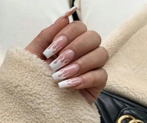 nails, Nude, and nails art image