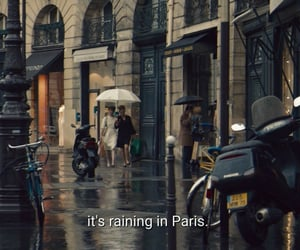 paris, quotes, and rain image