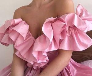 pink dress, outfit inspiration inspo, and off shoulder dress image