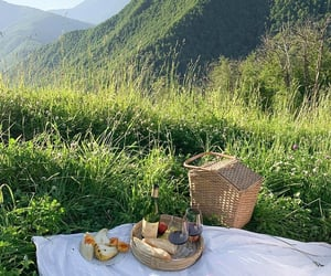food, mountains, and nature image