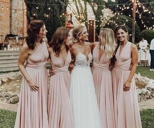 wedding, bridesmaid, and dress image