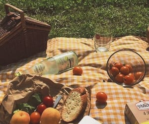 aesthetic, picnic, and food image