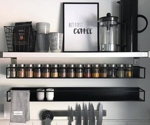 black, coffee, and food image
