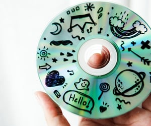 art, disc, and doodles image