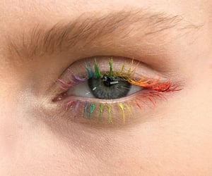 eye, rainbow, and beauty image