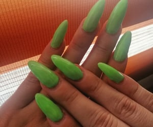 billie, green, and art nails image
