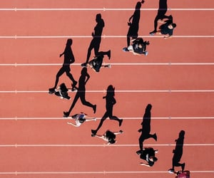 above, aerial view, and runners image