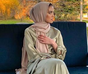 hijab, interior home, and islam image
