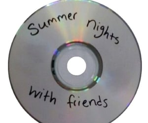 friends, summer, and cd image
