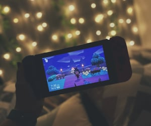animal crossing, fairy lights, and video game image
