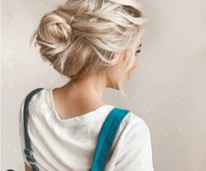 messy buns, tails, and half buns image