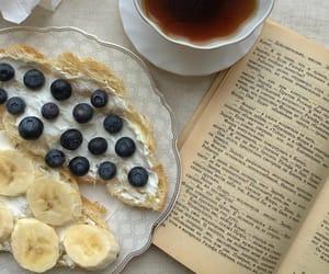 book, food, and tea image