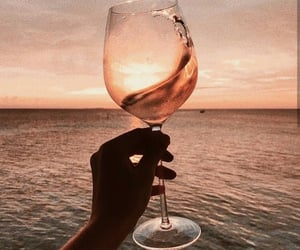 wine, beach, and drink image
