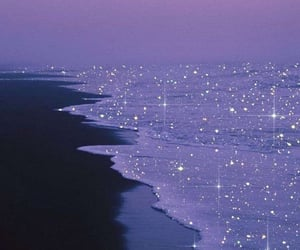 glitter, ocean, and aesthetic image