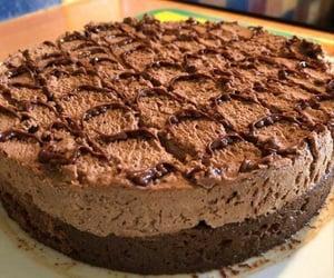 cake, chocolate, and chocolatelovers image