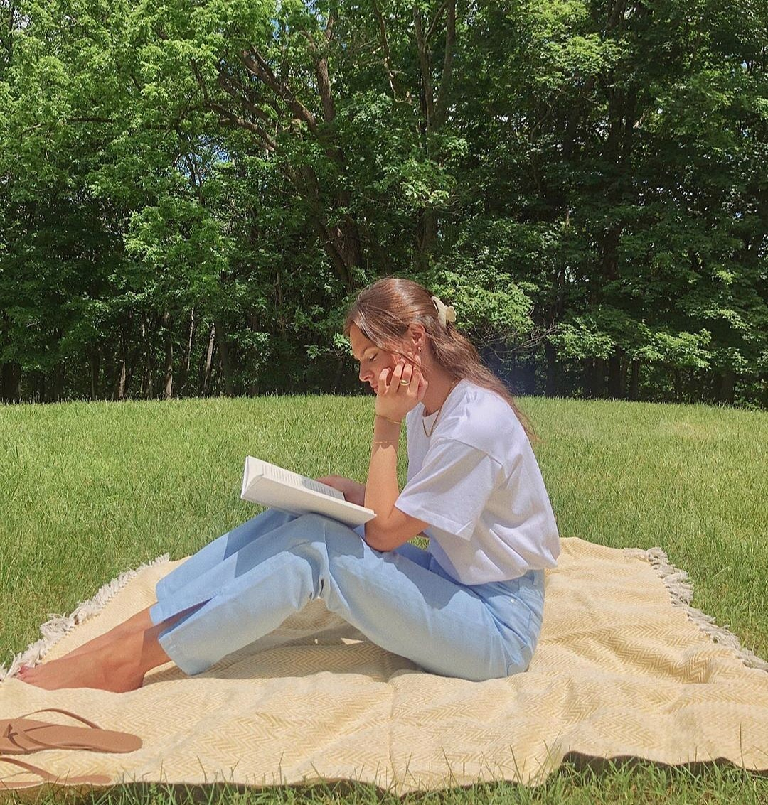 picnic, summer, and book image