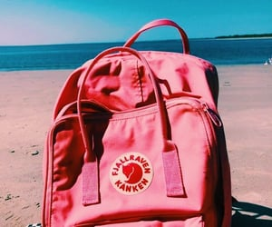 aesthetic, backpack, and beach image