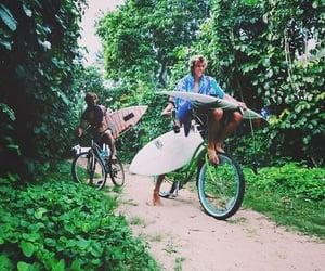 summer, boy, and bike image