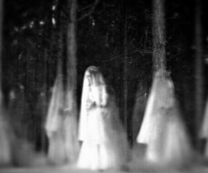 black and white and dark image