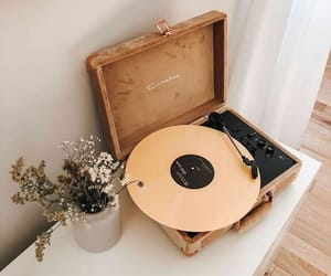 music, flowers, and aesthetic image