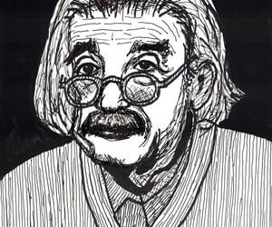art, Albert Einstein, and caricature image