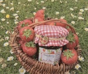 aesthetic, strawberry, and cottagecore image