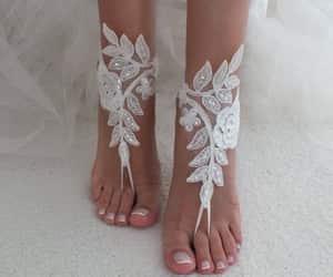 etsy, lace sandal, and wedding shoes image