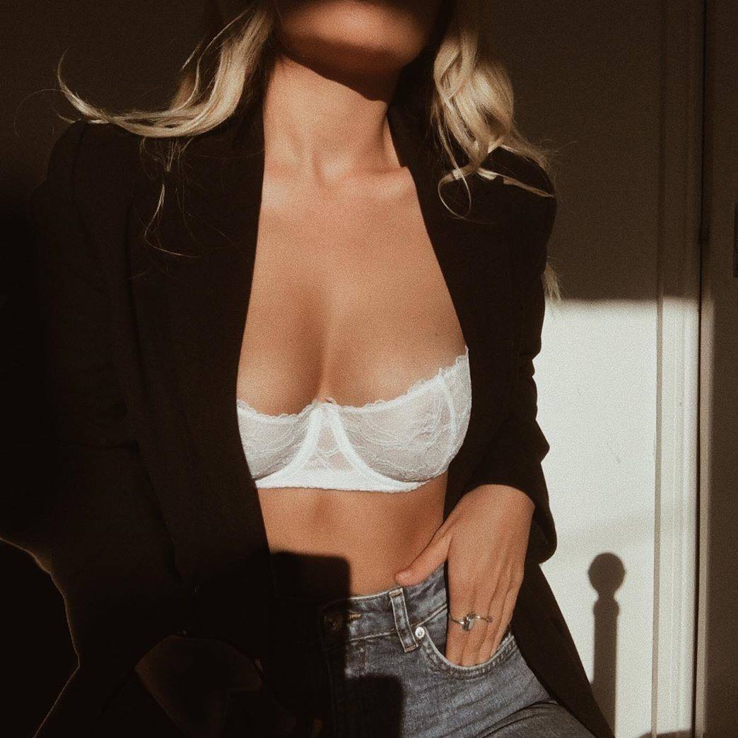 blonde, fashion, and bra image
