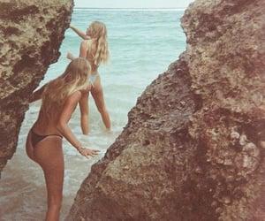 beach, bikini, and girls image