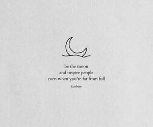 quotes, moon, and inspiration image