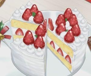 food, anime, and cake image