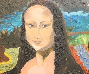 art, monalisa, and painting image