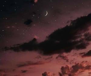 sky, moon, and night image