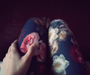 flowers and legs image