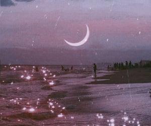 beach, mar, and moon image