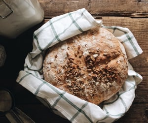 baking, bread, and breakfast image