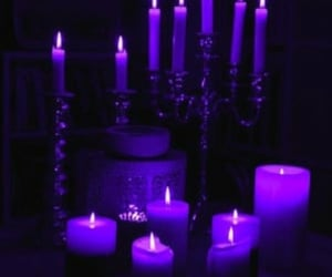 candle, light, and purple image