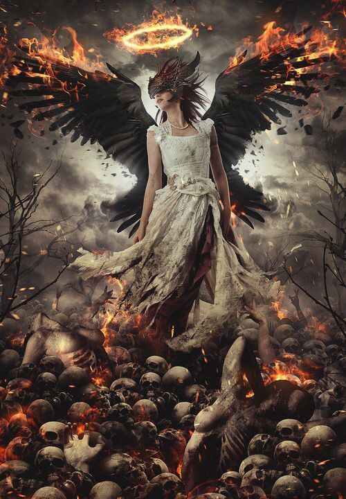 angel, Devil, and good image