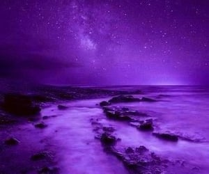 purple, sky, and night image