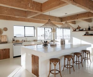 architecture, beams, and dream home image