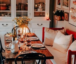 candles, cozy, and dinner image