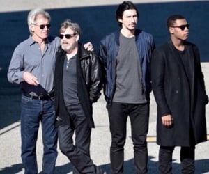 finn, han solo, and star wars image
