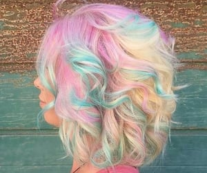 hair, colors, and pastel image
