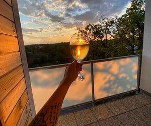 sunset, view, and wineoclock image