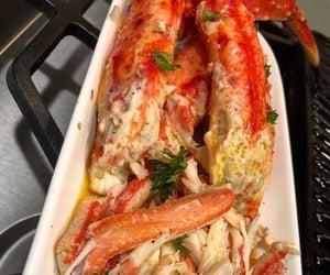 food, seafood, and crab image