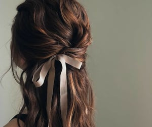 hairstyle, ribbon, and vintage image