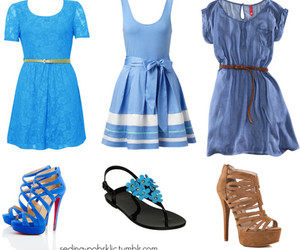 blue, clothes, and shoes image