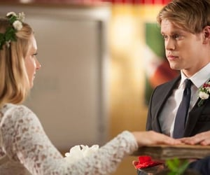 glee, heather morris, and chord overstreet image
